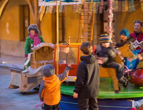 Le manège de l'Escampette au  Marché de Noël à Briançon (05)
